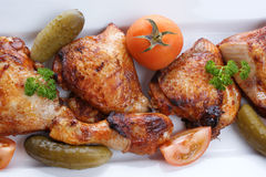 Grilled organic chicken meat Royalty Free Stock Images