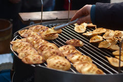 Grilled oscypek- sheep cheese Stock Photography