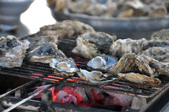 The grilled oyster Royalty Free Stock Images