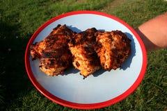 Grilled pôs de conserva o peito de frango 4 Foto de Stock Royalty Free