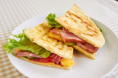 Grilled panini sandwiches Royalty Free Stock Image
