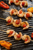 Grilled Parmesan Shrimp Royalty Free Stock Images