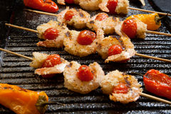 Grilled Parmesan Shrimp Royalty Free Stock Photos