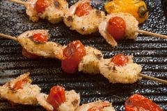 Grilled Parmesan Shrimp Stock Image