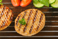 Grilled patties Stock Photo