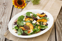 Grilled Peach and Mozzarella Salad Royalty Free Stock Images