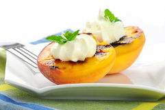 Grilled Peaches Stock Images