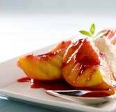 Grilled Peaches Royalty Free Stock Image