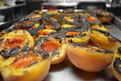 Grilled Peaches. Fresh peaches, grilled and ready to eat Royalty Free Stock Images