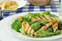 Grilled pear salad Stock Images