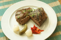 Grilled pepper steak Stock Photo