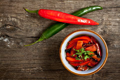 Grilled peppers Stock Image