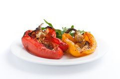 Grilled peppers with spicies Royalty Free Stock Photo