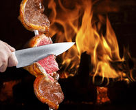Grilled Picanha, Brazilian barbecue Royalty Free Stock Images
