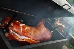 Grilled pig Stock Photo