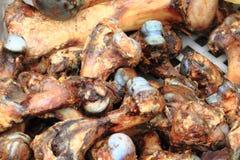 Grilled pig bones Stock Photo