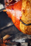 Grilled pig leg Royalty Free Stock Photography