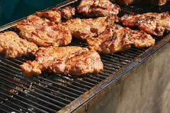 grilled pig meat Royalty Free Stock Photos