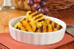 Grilled pineapple slices Stock Photography
