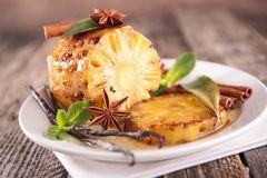 Grilled pineapple with spices Stock Image