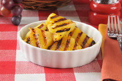 Grilled pineapple wedges Royalty Free Stock Image