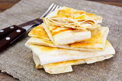 Grilled Pita Bread with Cheese Stock Photography