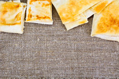 Grilled Pita Bread with Cheese Stock Images