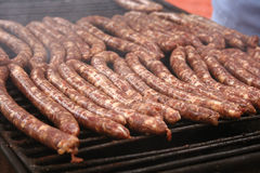 Grilled Plescoi sausages Stock Image