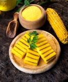 Grilled polenta Stock Image