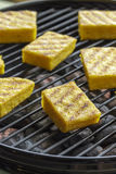 Grilled polenta Stock Photos