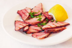 Grilled pork appetizer (selective focus) Royalty Free Stock Photography