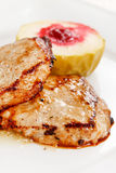 Grilled pork with apple Royalty Free Stock Images
