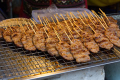 Grilled pork in asian style Royalty Free Stock Photography