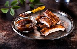 Grilled pork baby ribs Royalty Free Stock Image