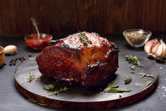 Grilled pork, barbecue meat Stock Images