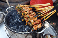 Grilled pork. Or barbeque from Vietnam Royalty Free Stock Photography