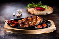 Grilled pork BBQ ribs Royalty Free Stock Photos