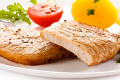Grilled pork breast Royalty Free Stock Photos