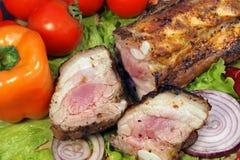 Grilled pork brisket Stock Images