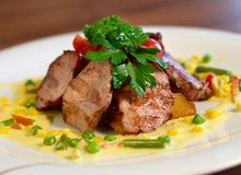Grilled pork chop Royalty Free Stock Image