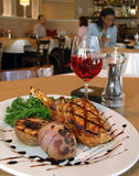 Grilled Pork Chop Stock Photo