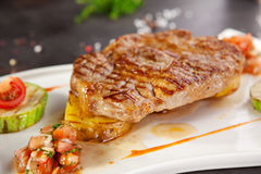 Grilled Pork Chop Royalty Free Stock Photos