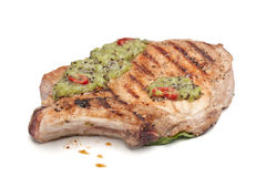 Grilled Pork Chop Royalty Free Stock Images