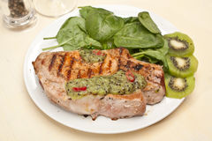 Grilled Pork Chop stock photo