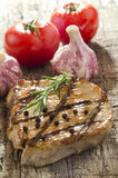 Grilled pork chop with peppercorns Stock Photography