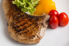 Grilled Pork chop prepare for serve Royalty Free Stock Photography