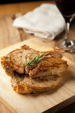 Grilled pork chop with rosemary Royalty Free Stock Photography