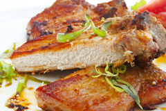 Grilled pork chop with spices Stock Image
