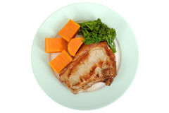 Grilled Pork Chop with Vegetables Stock Photography