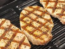 Grilled pork chops Stock Photos